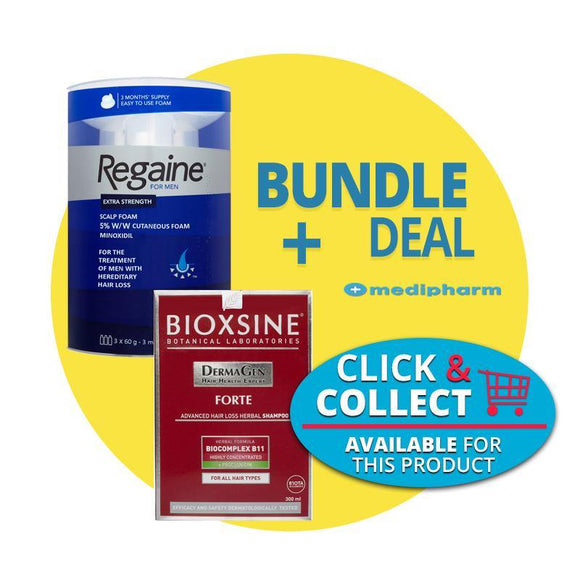 Bundle Deal - Regaine Men Foam 3 Months Supply +  Bioxsine Forte Shampoo 300ml - Medipharm Online