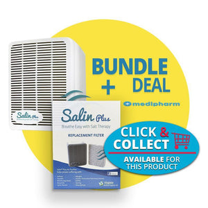 Bundle Deal - Salin Plus Breathe Easy Salt Therapy + 1 Extra Filter