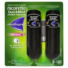 Nicorette QuickMist Mouth Spray Duo Pack (2 x 150 Sprays) - Cool Berry - Medipharm Online - Cheap Online Pharmacy Dublin Ireland Europe Best Price