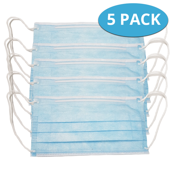 Face Mask  Pack of 5 - COVID-19 Alert Essential