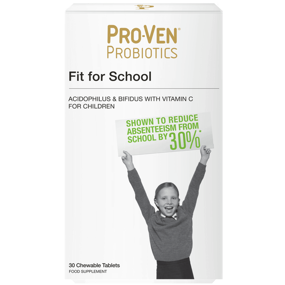 Pro-Ven Probiotics Fit for School 30 Chewable Tablets - Medipharm Online