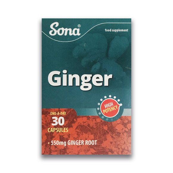 Sona - Ginger - 1 Month Supply - 30 capsules - Medipharm Online - Cheap Online Pharmacy Dublin Ireland Europe Best Price