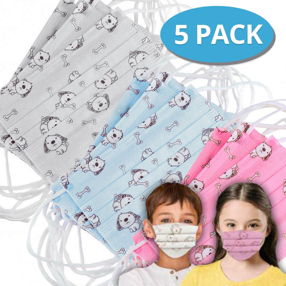 Face Mask KIDS Pack of 5 COVID-19 Alert Essential