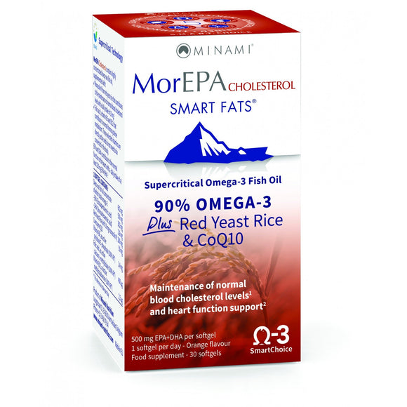 MorEPA Smart Fats Caps Choesterol 30 Caps - Medipharm Online Pharmacy Dublin Ireland - medipharm.ie