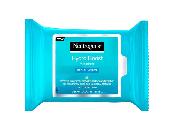 Neutrogena - Hydro Boost Cleanser Facial Wipes - Medipharm Online - Cheap Online Pharmacy Dublin Ireland Europe Best Price