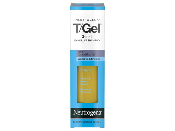 Neutrogena T/Gel 2 In 1 Dandruff Shampoo + Conditioner - 250ml - Medipharm Online - Cheap Online Pharmacy Dublin Ireland Europe Best Price