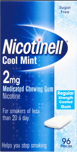 Nicotinell 2mg Cool Mint Gum 96 Pack - Medipharm Online - Cheap Online Pharmacy Dublin Ireland Europe Best Price