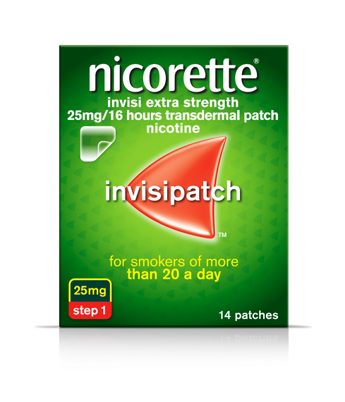 Nicorette Invisi Extra Strength 25mg Patches