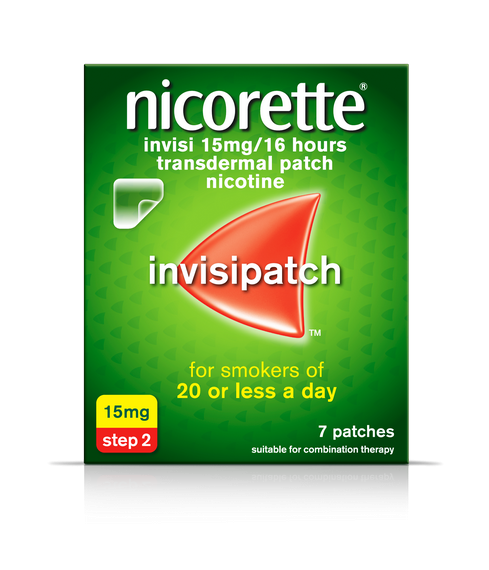 Nicorette Invisible 15mg 7 Patches