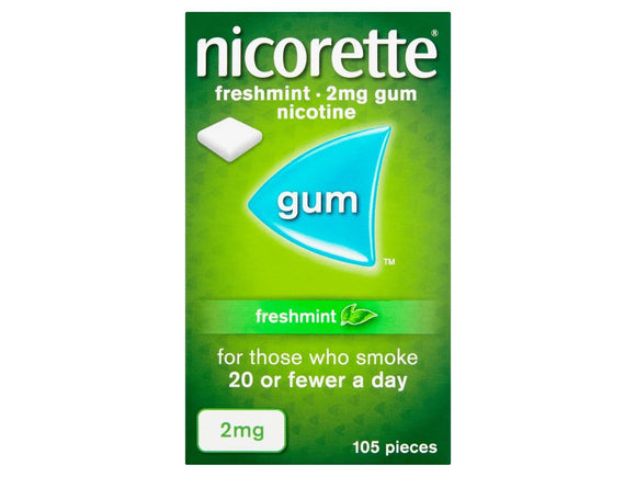 Nicorette Freshmint 2mg Coated Gum 105 Pieces