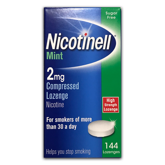 Nicotinell - 2mg - Mint Lozenge - 144 Pack - Medipharm Online - Cheap Online Pharmacy Dublin Ireland Europe Best Price