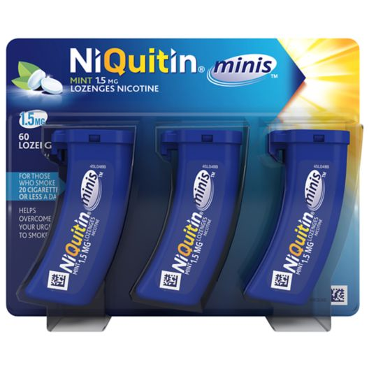 Niquitin Mini Mint 1.5mg 60 Lozenges - Medipharm Online Pharmacy Dublin Ireland - medipharm.ie