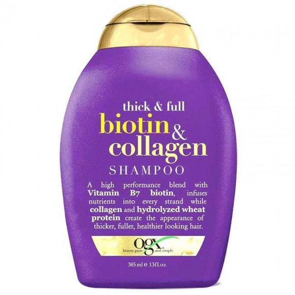 OGX Biotin Collagen Shampoo 385ml-medipahrm.ie