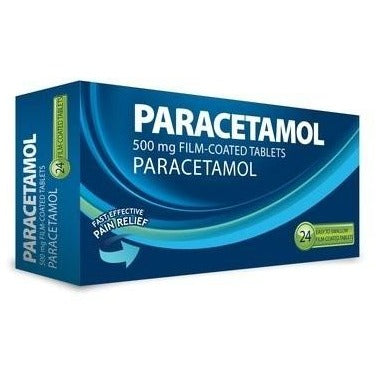 Paracetamol 500mg Film-Coated 24 Tablets - Medipharm Online Pharmacy Dublin Ireland - medipharm.ie