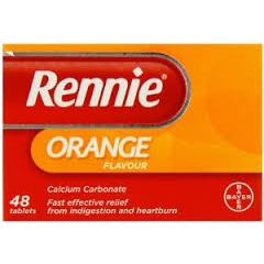 Rennie Orange 500mg Chewable 48 Tablets - Medipharm Online Pharmacy Dublin Ireland - medipharm.ie