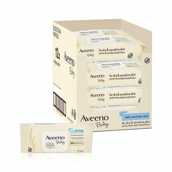 Aveeno - Baby Wipes - 12 Pack - Medipharm Online - Cheap Online Pharmacy Dublin Ireland Europe Best Price