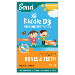 Sona Kiddie D3 Vitamin D3 Drops 30ml - Medipharm Online Pharmacy Dublin Ireland - medipharm.ie
