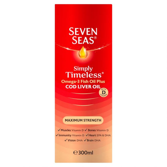 Seven Seas Maximum Strength Cod Liver Oil 300ml - Medipharm Online - Cheap Online Pharmacy Dublin Ireland Europe Best Price
