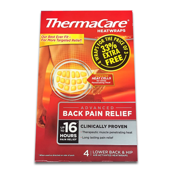 ThermaCare 16 Hour Heatwraps Back 4 Pack 33% EXTRA FREE - Medipharm Online - Cheap Online Pharmacy Dublin Ireland Europe Best Price