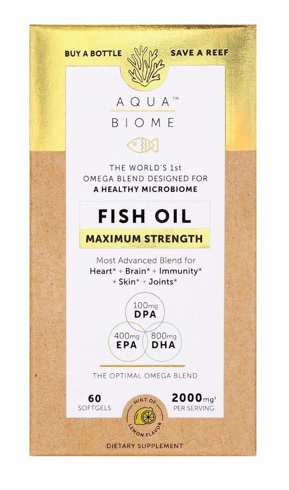 Aqua Biome Fish Oil Max Strength 60s - Medipharm Online