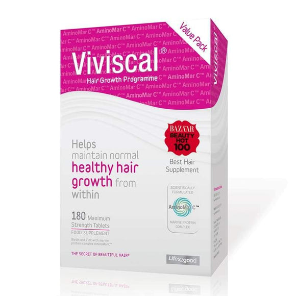 Viviscal Maximum Strength Hair Growth Supplement 3 months supply 180 pack - Medipharm Online