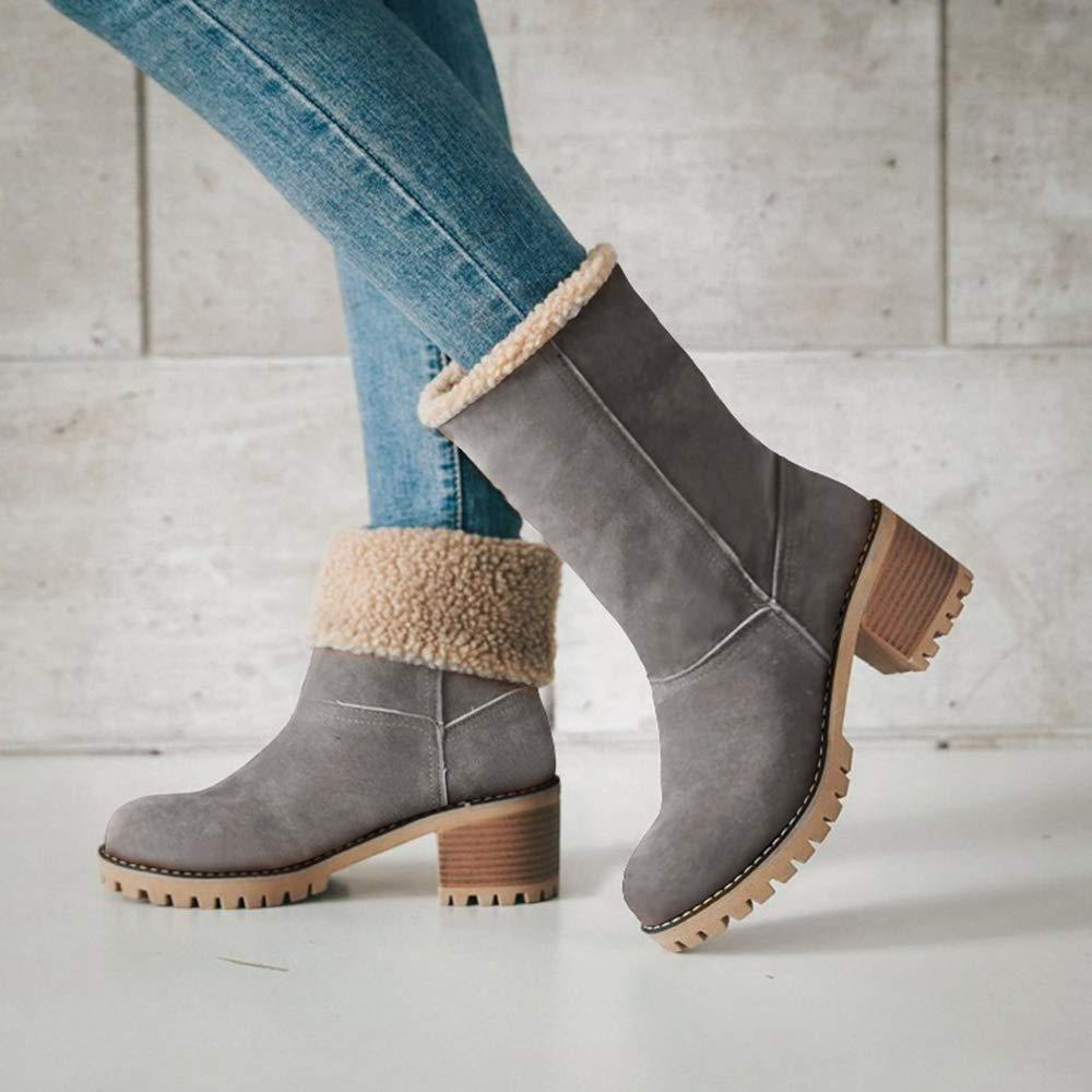 Premium Suede Snow Chunky Boots default Final Prime GRAY 4.5