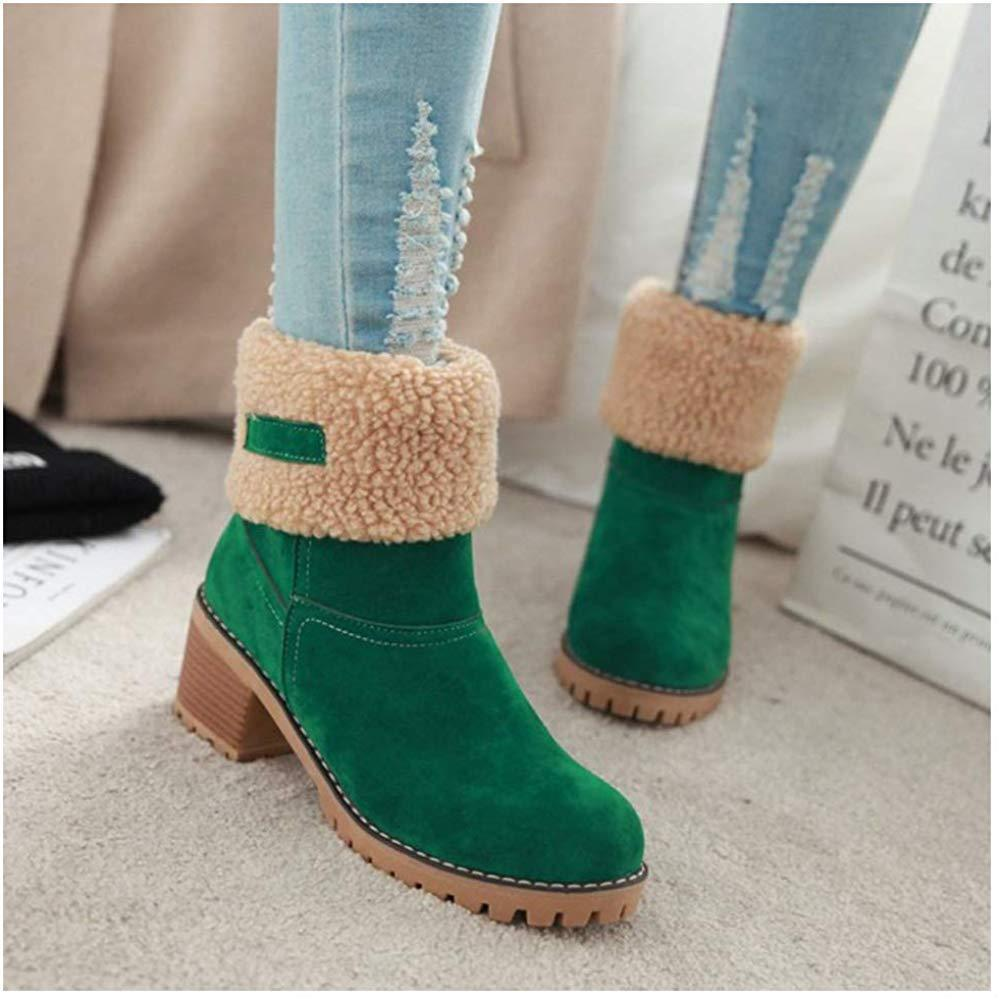 Premium Suede Snow Chunky Boots default Final Prime GREEN 4.5
