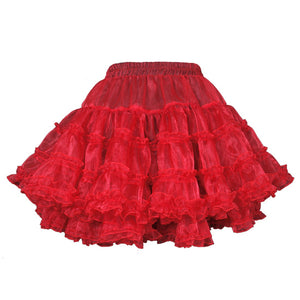 Yemima Heavy Frilled Tutu Skirt Red