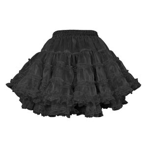 Yemima Heavy Frilled Tutu Skirt Black