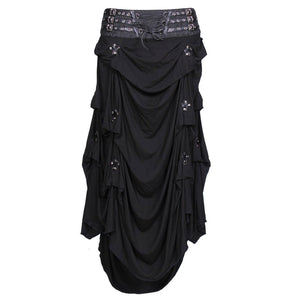 Dusky Gothic Long Knitted Skirt