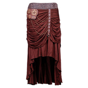 Persis Cotton Lycra Knitted Steampunk Skirt