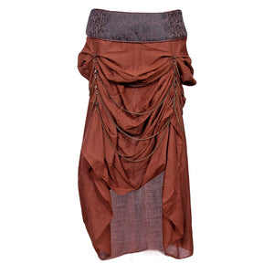 Pinar Cotton Steampunk Skirt