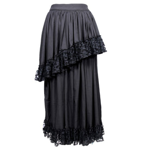 Rikke Moss Creape Net Frilled Long Skirt