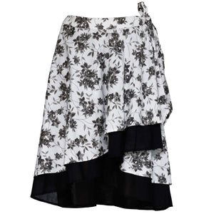 Khean Layered Wrap Skirt