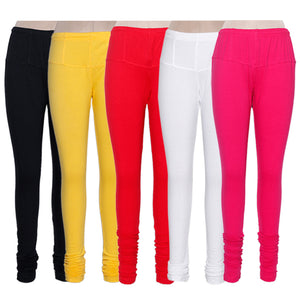 Women's Multi Color Combo Cotton Lycra Leggings