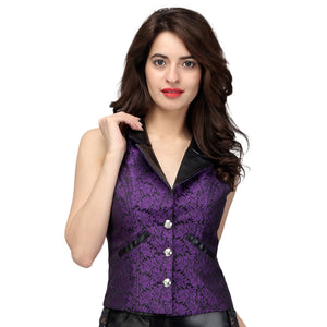 Camille Gothic Notch Collar Waistcoat
