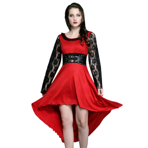 Gisella Black Red Gothic Dress