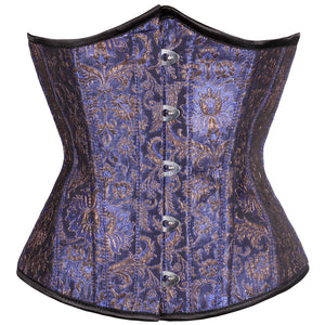 Elisbat Purple Authentic Steel Boned Waist Reducing Underbust Corset