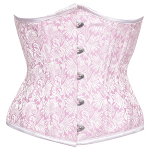 Viola Light Pink Authentic Steel Boned Waist Reducing Underbust Corset