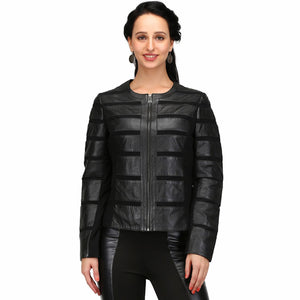 Duna Black One Touch Women's Leather Jacket