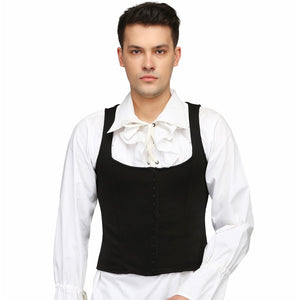 Black Scuba Men's Overbust Corset