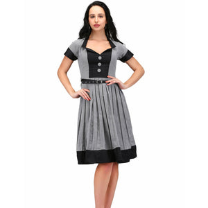 Olivia Black White Retro Dress