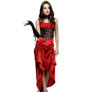 Palmira Red And Black Gothic Dress