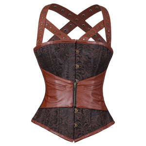 Narcissa Steampunk Authentic Steel Boned Overbust Corset