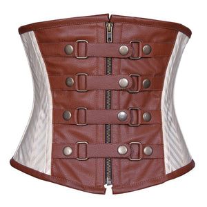 Kristal Steampunk Authentic Steel Boned Underbust Corset
