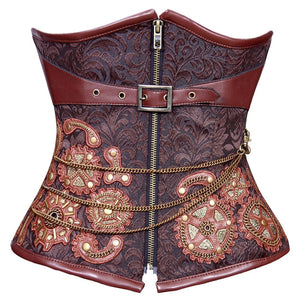 Rachel Steampunk Authentic Steel Boned Underbust Corset