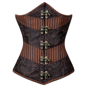 Narelle Steampunk Authentic Steel Boned Underbust Corset