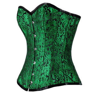 Urania Authentic Overbust Corset Black Green