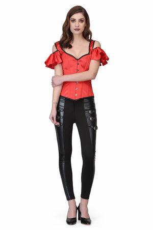 Red Gothic Overbust Corset