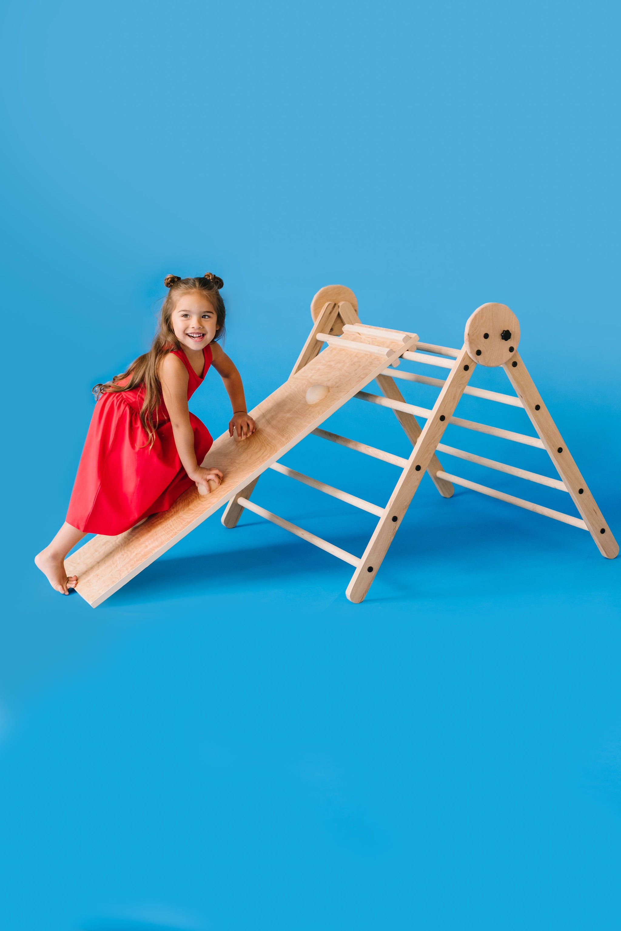 The Folding Pikler with Slide and Climber